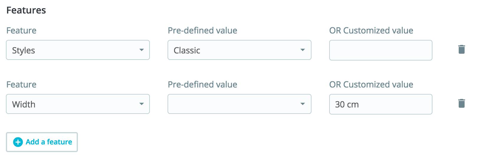 prestashop add features