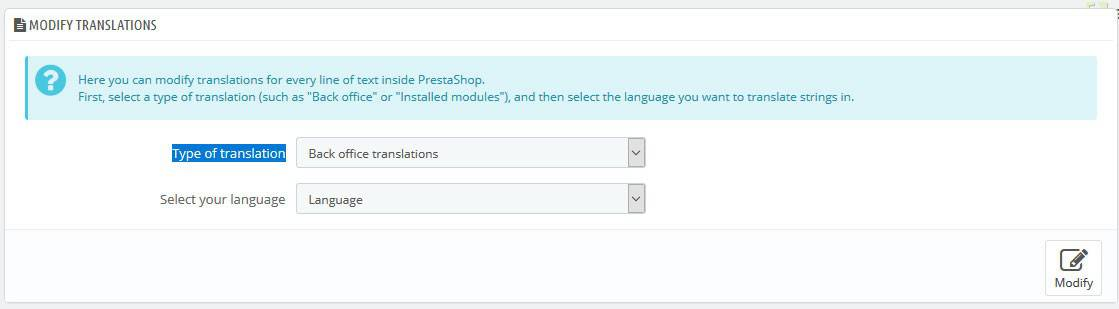 Modify Translation PrestaShop