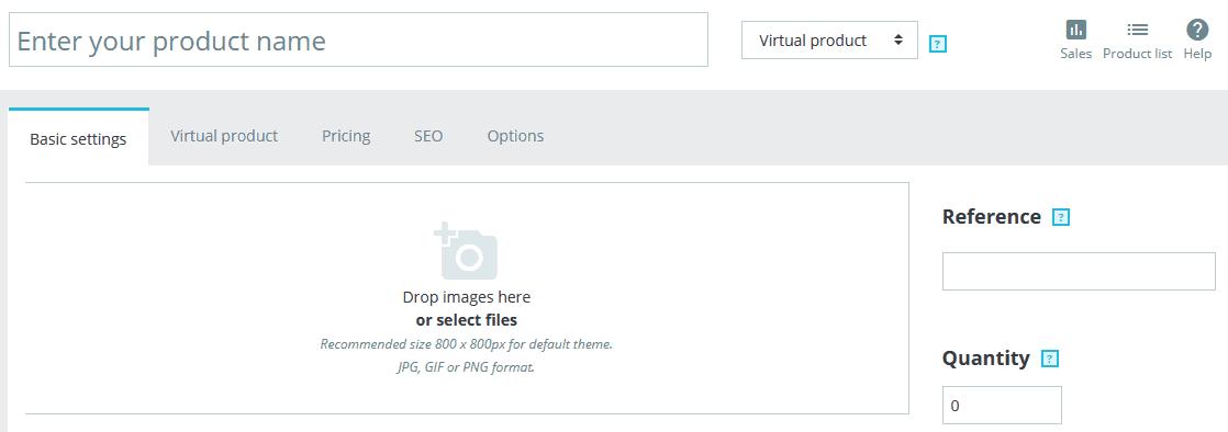 PrestaShop virtual products