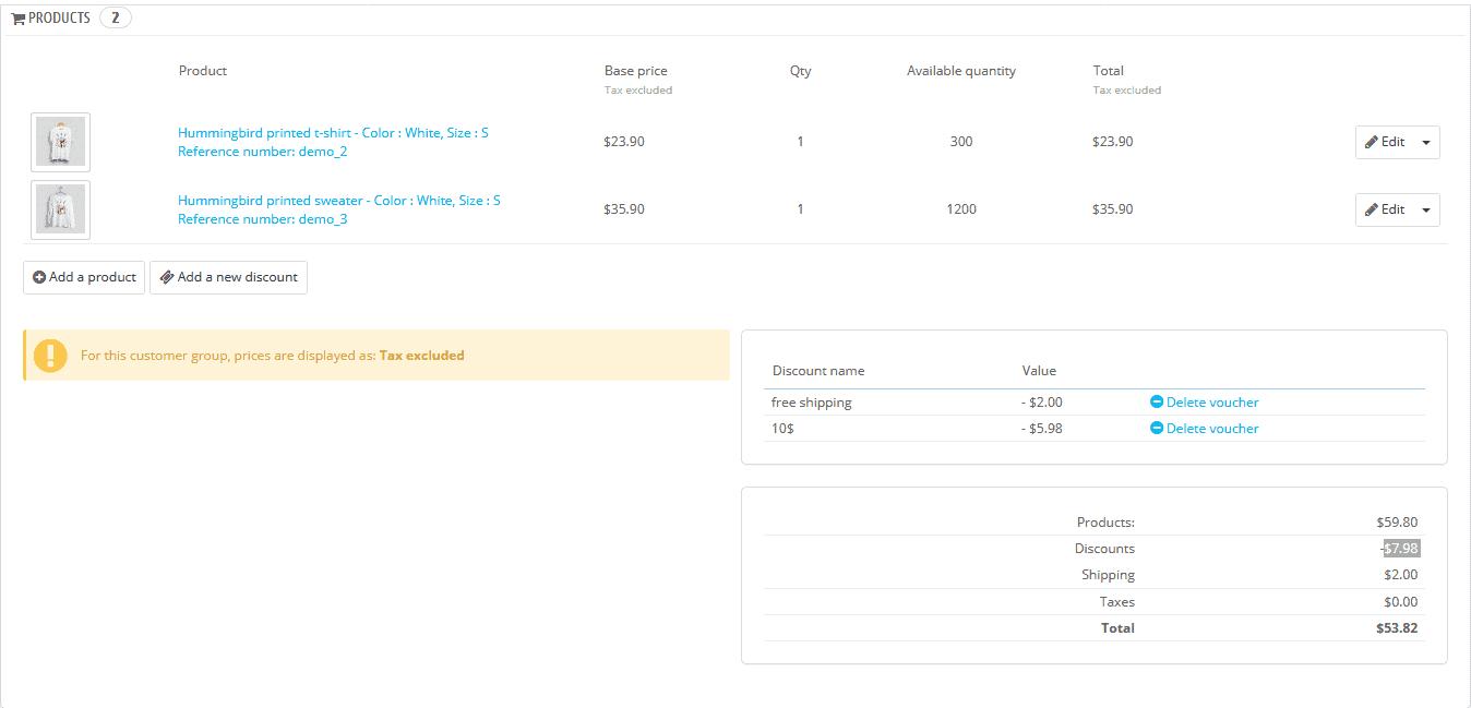 delete discount