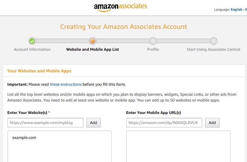 Amazon associate central
