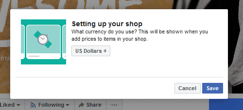 FB Store Select surrency