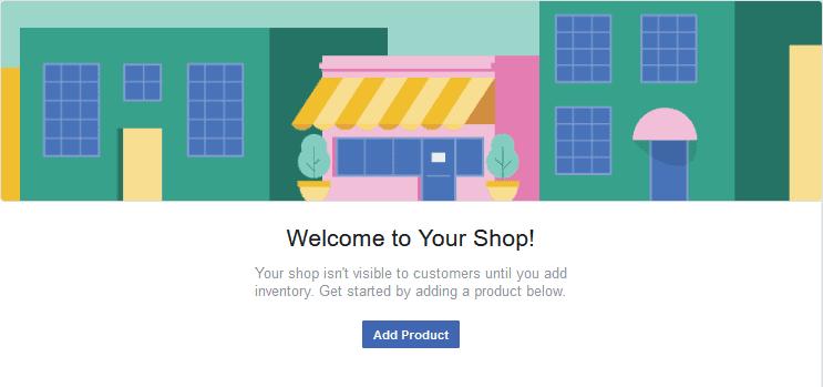Fb Store shop page