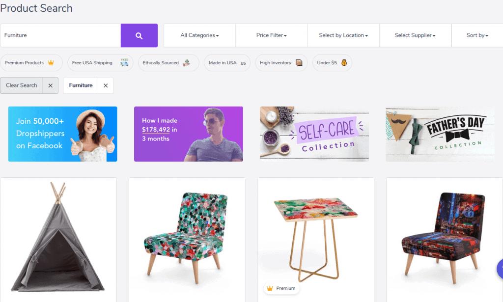 Furniture Search Spocket 1