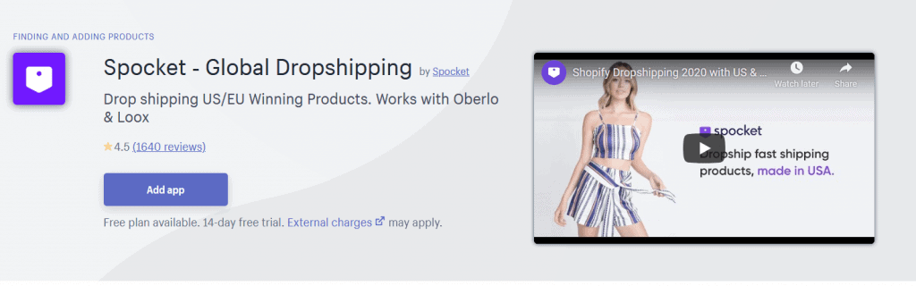 Spocket ‑ Global Dropshipping