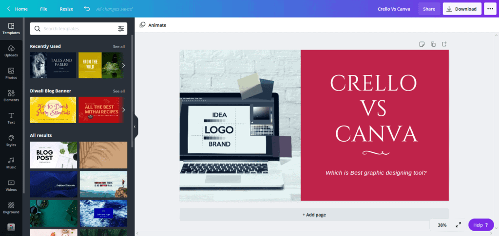 canva ease of use