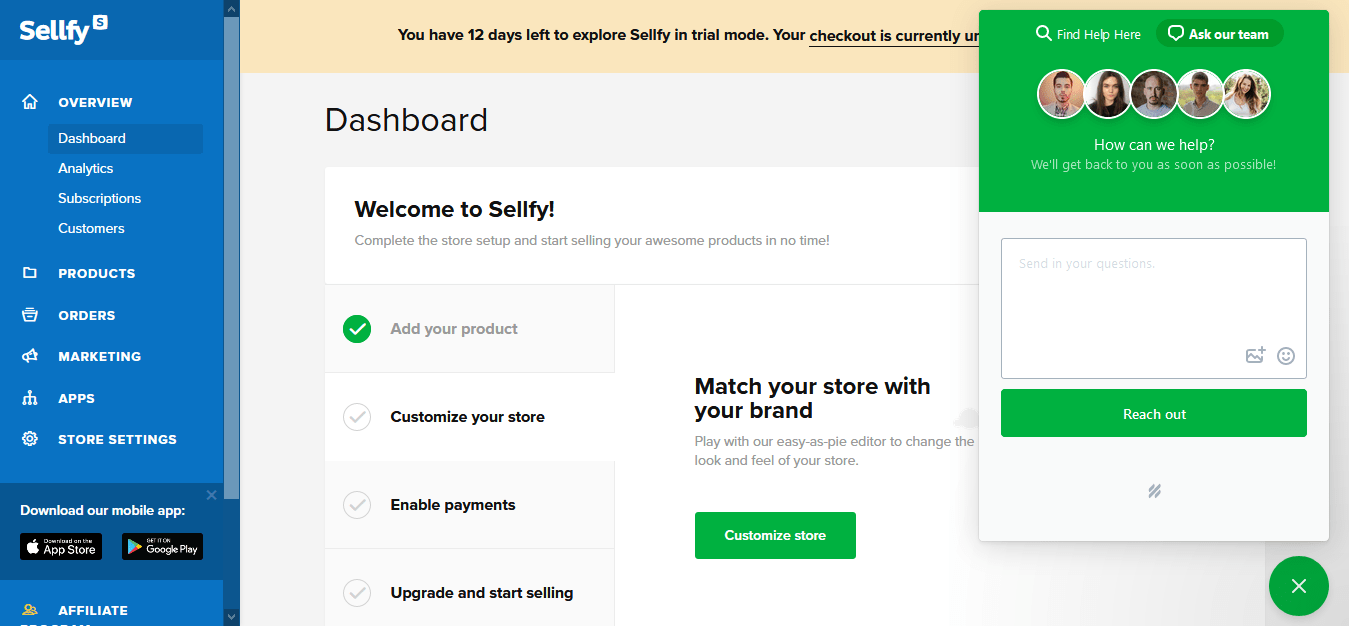 Sellfy review ask question