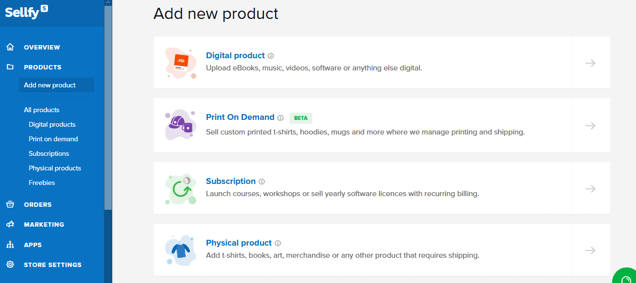 Sellfy review add products