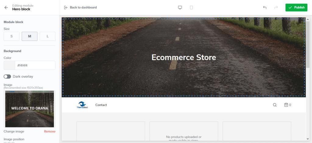 Sellfy store customization