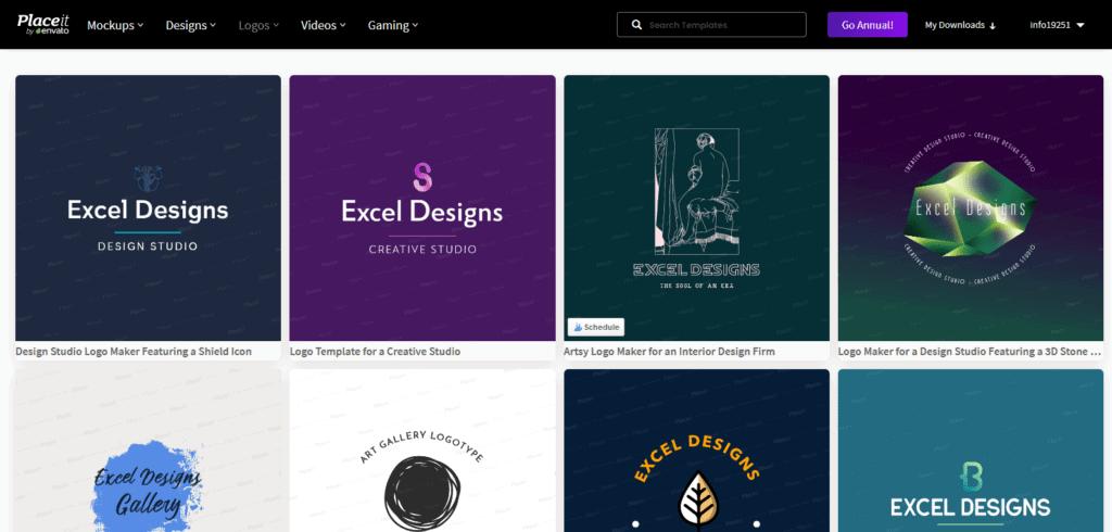 Placeit logo editor