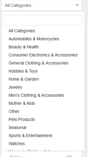 search the products