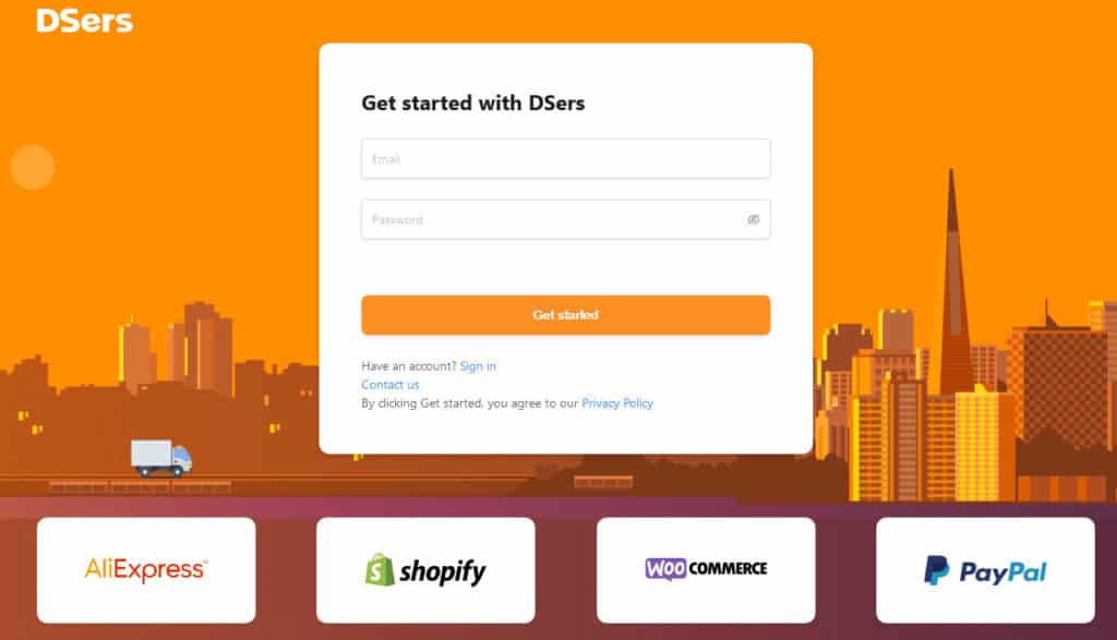 DSers Register Account