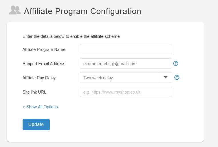 SendOwl Affiliate Program Configuration
