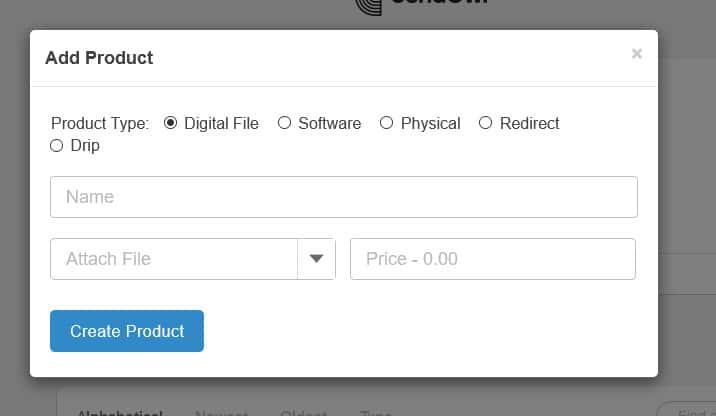 SendOwl add digital product
