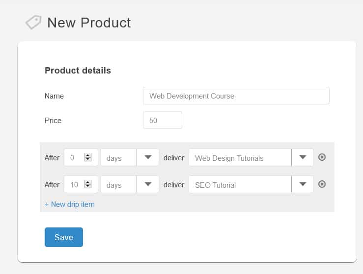 SendOwl drip product
