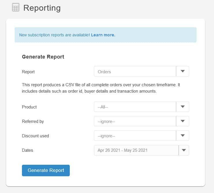 SendOwl reports