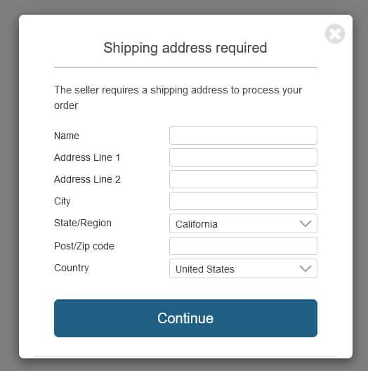 SendOwl shipping address