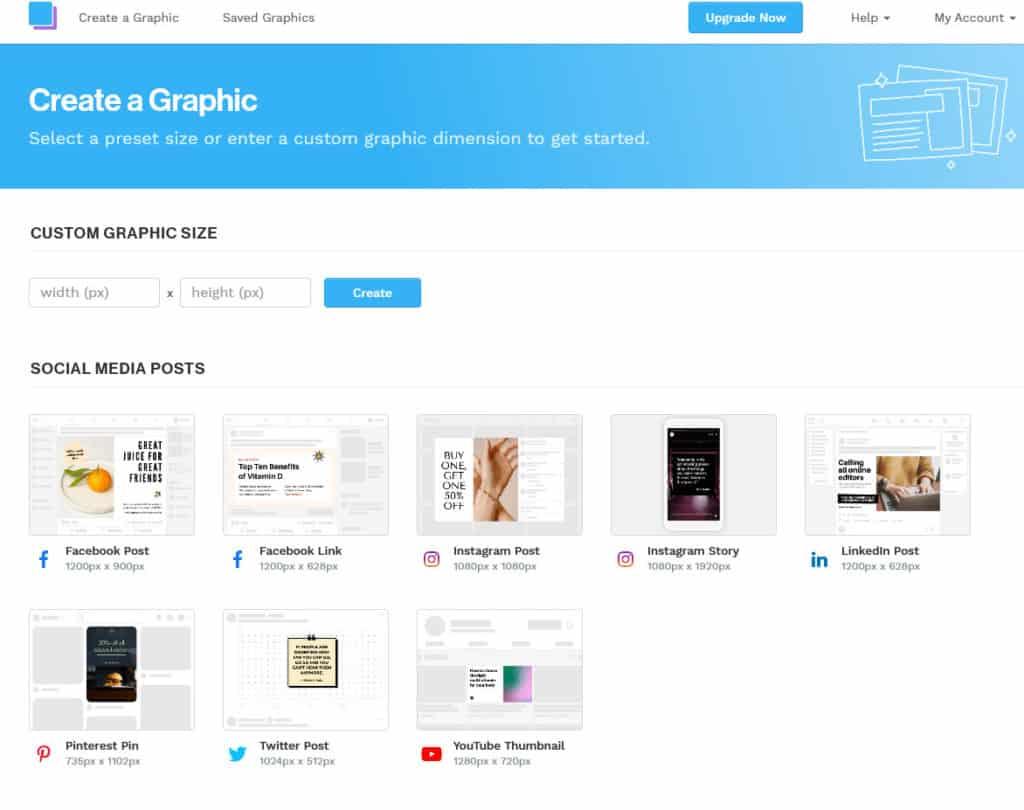 Snappa create graphic