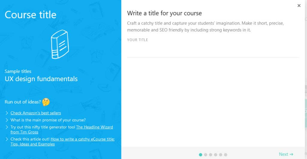 LearnWorlds Course title