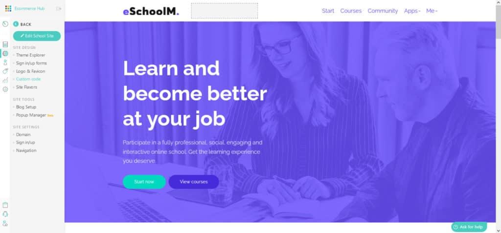 LearnWorlds Site Builder