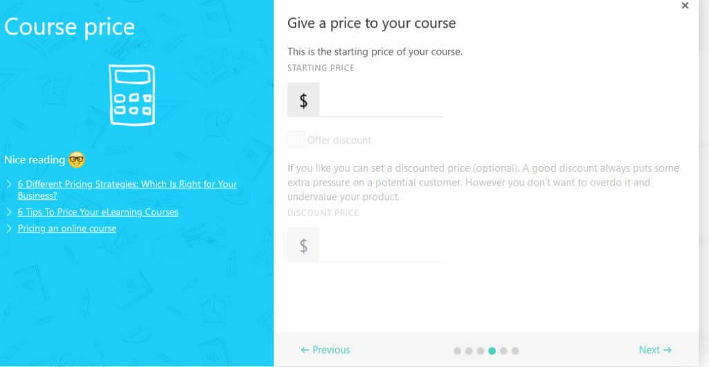 LearnWorlds course price