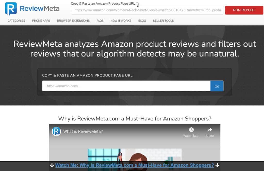 ReviewMeta Homepage